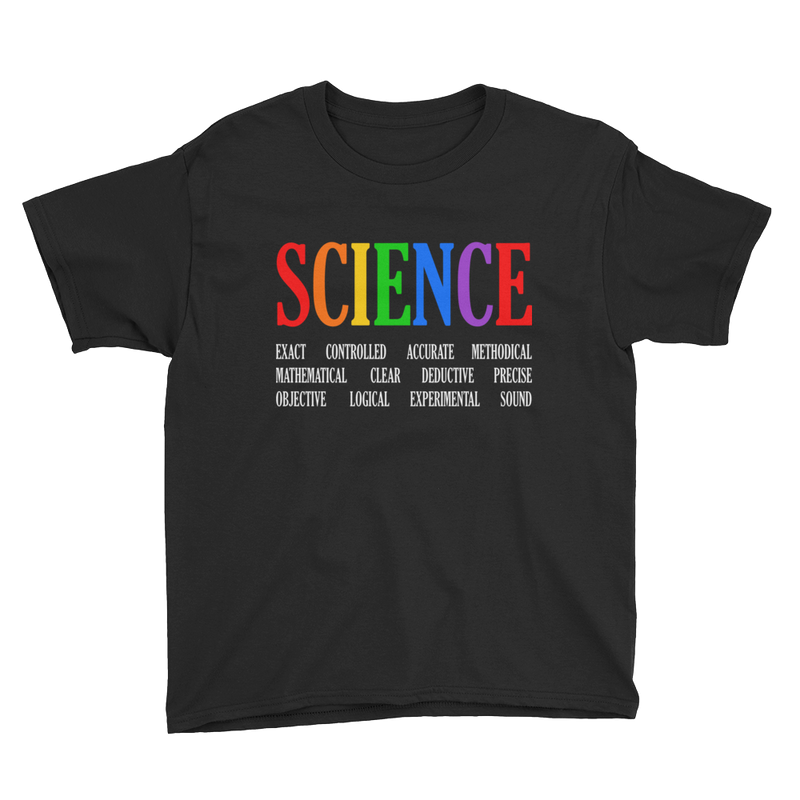 Boys Science Logo Tee - Black