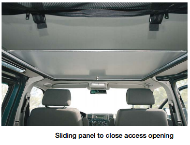 Sliding panel VW Transporter roof conversion