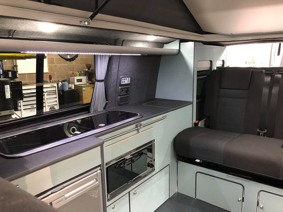 A new luxury cabin conversion on a Volkswagen T6 conversion
