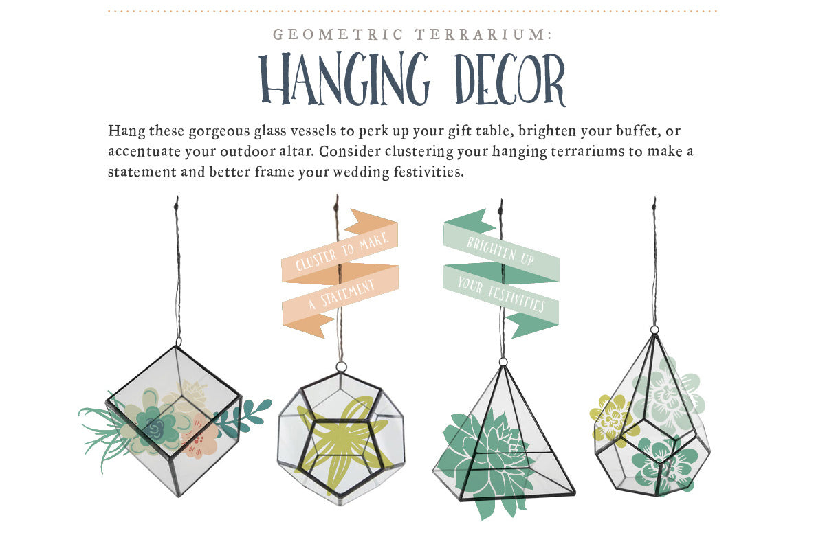 Geometric Terrarium: Hanging Decor