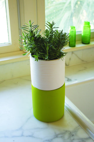 stacked herb planter