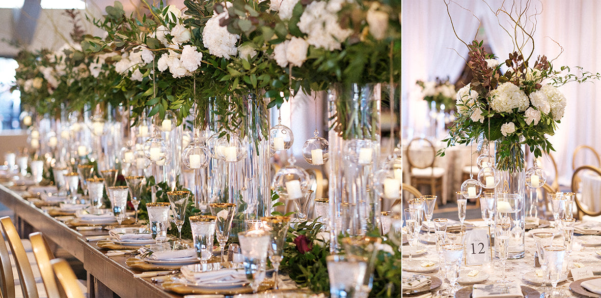 Tall Wedding Centerpieces with Holly Chapple Pillow
