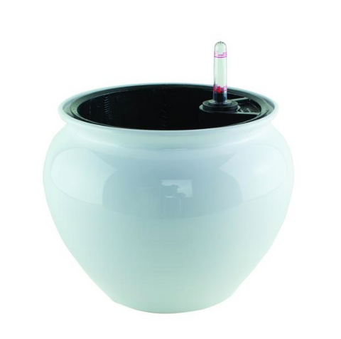 White Never Dry Jardiniere planter