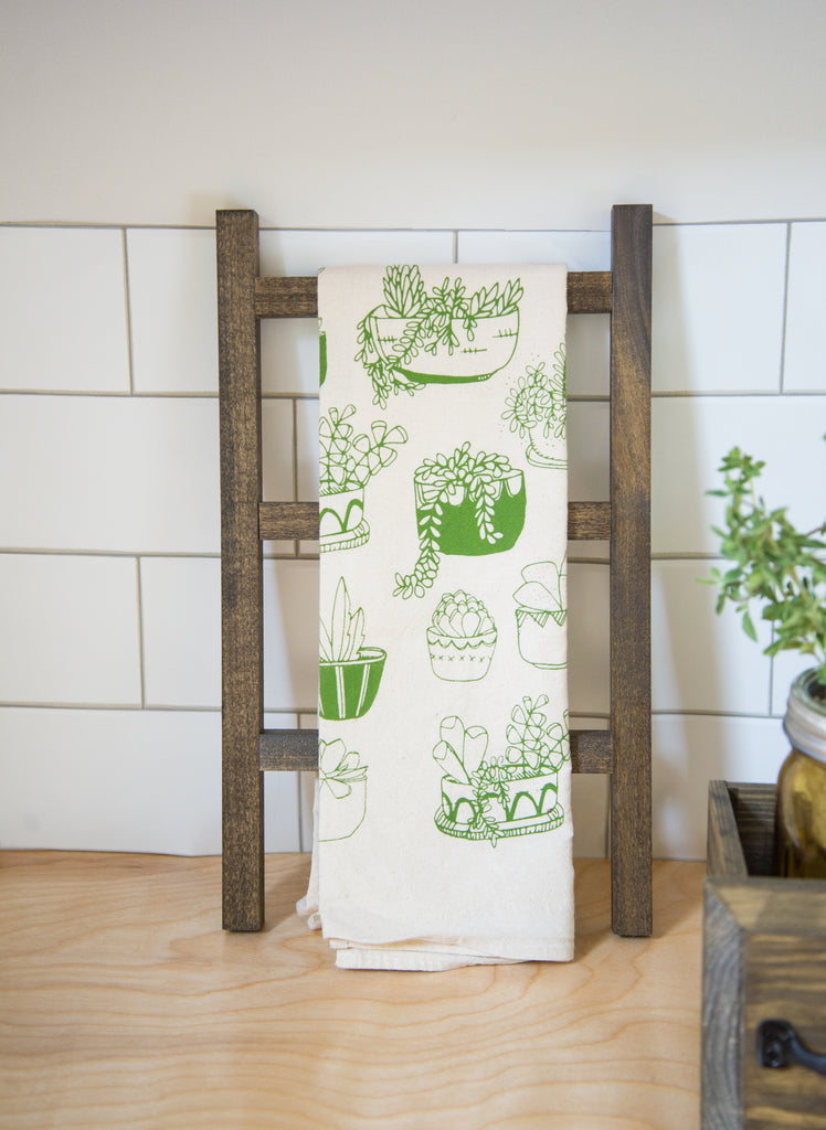 tea towel and ladder