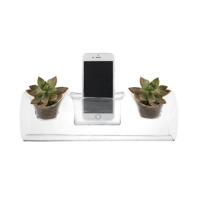 plant amp planter in use on white background