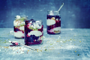 Blackcurrant & Pistachio Cheesecake Jam Jar Recipe