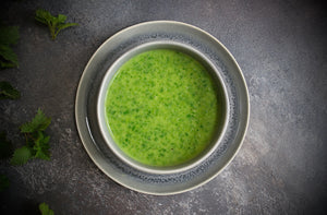 Nettle Soup Recipe on a Woodrow Studios Photography Background