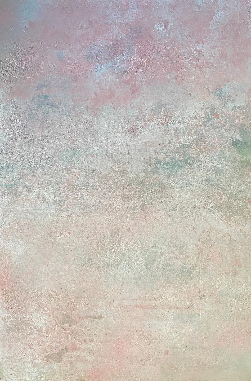 'Petalo' Hand-Painted Photography Background Weathered Concrete, pink