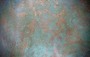 'Echo' Hand-Painted Photography Background Board, Copper Leaf-Background Board-Sophie-60x60cm-Woodrow Studios Food Photography Background
