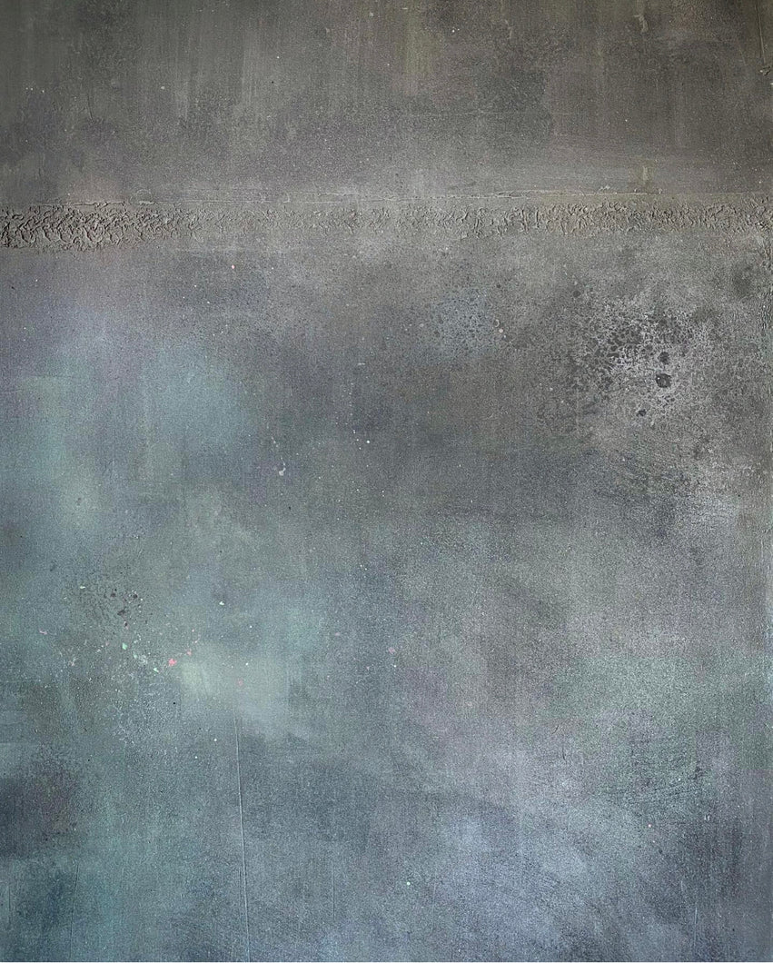 'Punk' Hand-painted Photography Background Board - medium grey/concrete, soft pink/greens