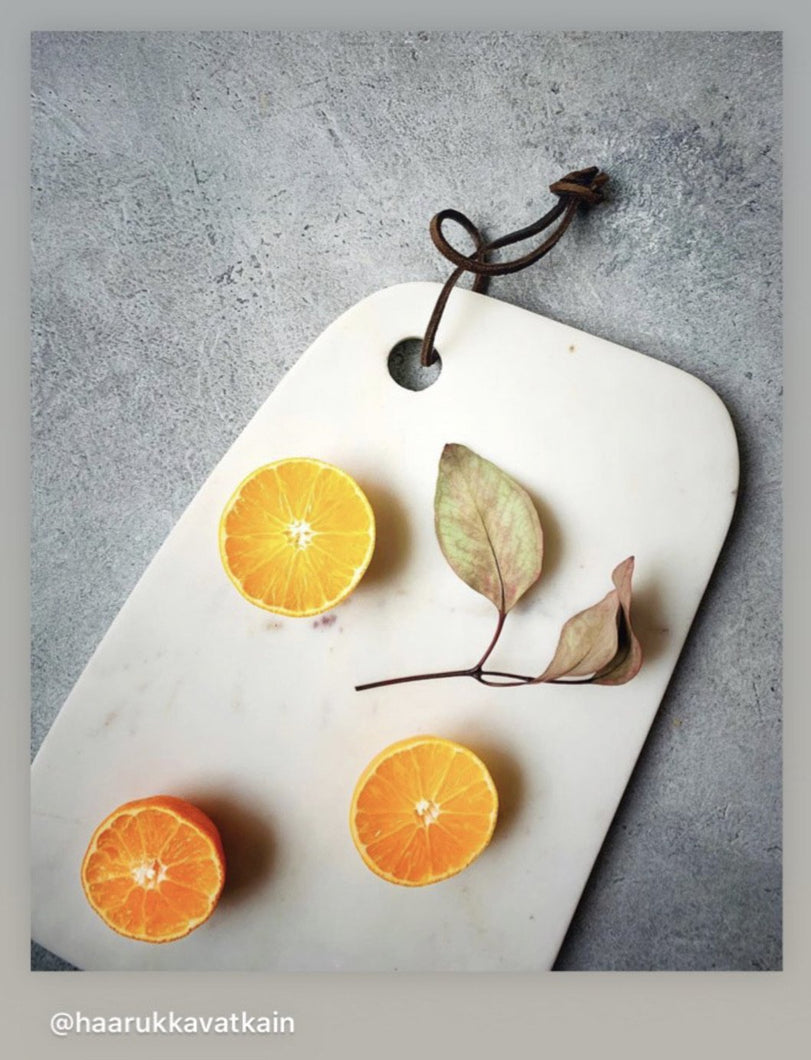 'Mantle' Hand-painted Photography Background Board - Light Grey-Background Board-Tom-60x60cm-Woodrow Studios Food Photography Background