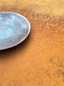 Strong Orange Rust Patinated Steel Photography Background - Woodrow Studios