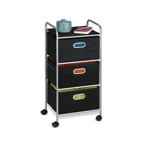 3 Drawer Rolling Fabric Cart - 1home.co