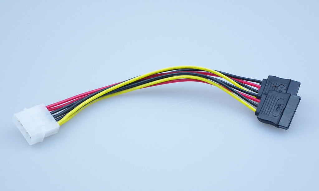 Molex to 2 SATA (Y splitter) adapter cable