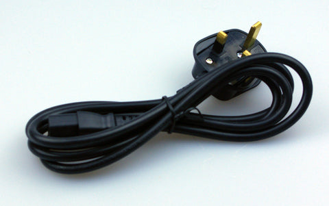UK Mains lead 13A fused 3 pin plug to IEC C13 1.8m