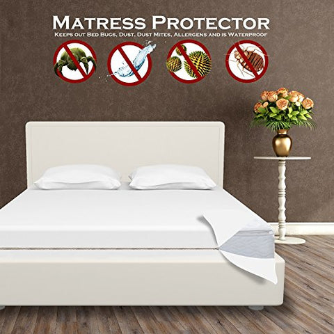 Clara Clark Bed Bug + Allergy, Waterproof Mattress Protector