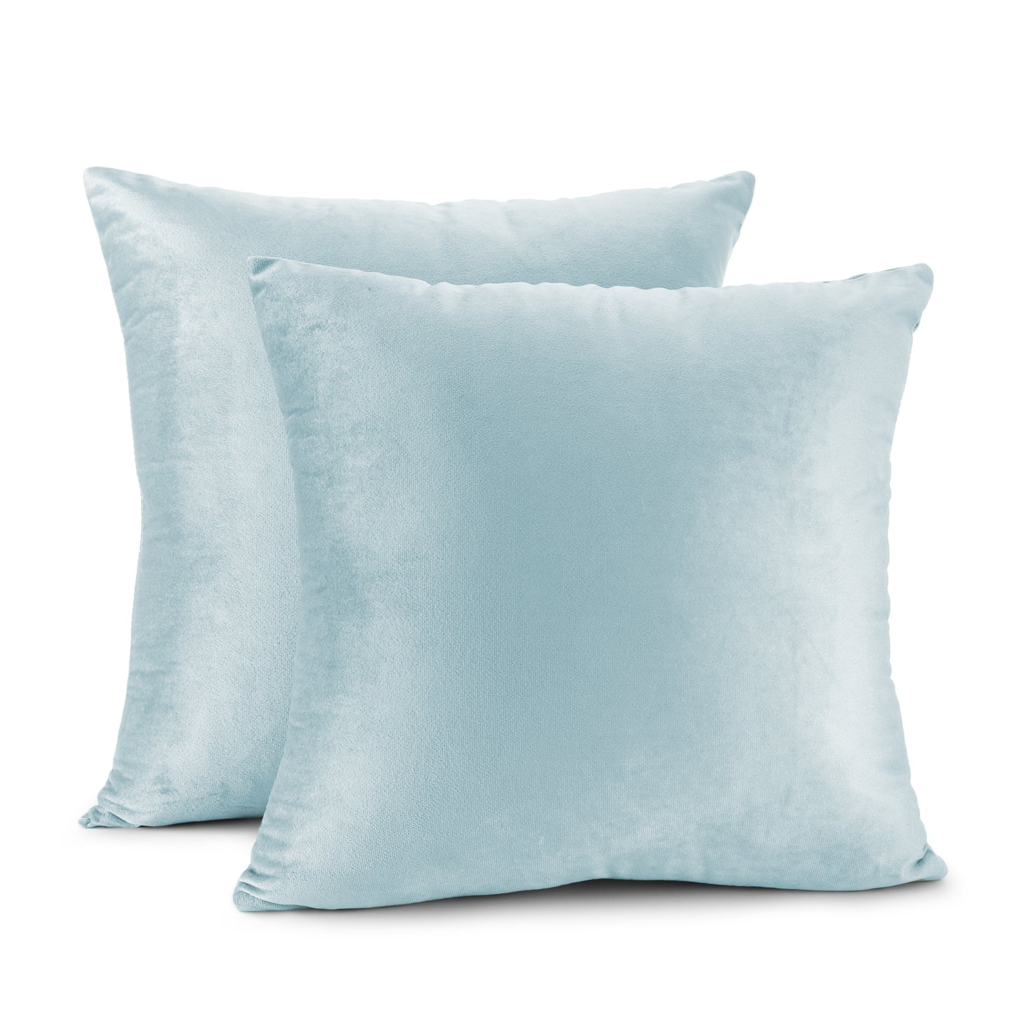 Nestl Bedding Throw Pillow Covers, Cozy Velvet Decorative Outdoor Pillow Covers 24x24 & 26x26 Inches, Soft Solid Cushion Covers for Sofa, Bed and Car, Set of 2