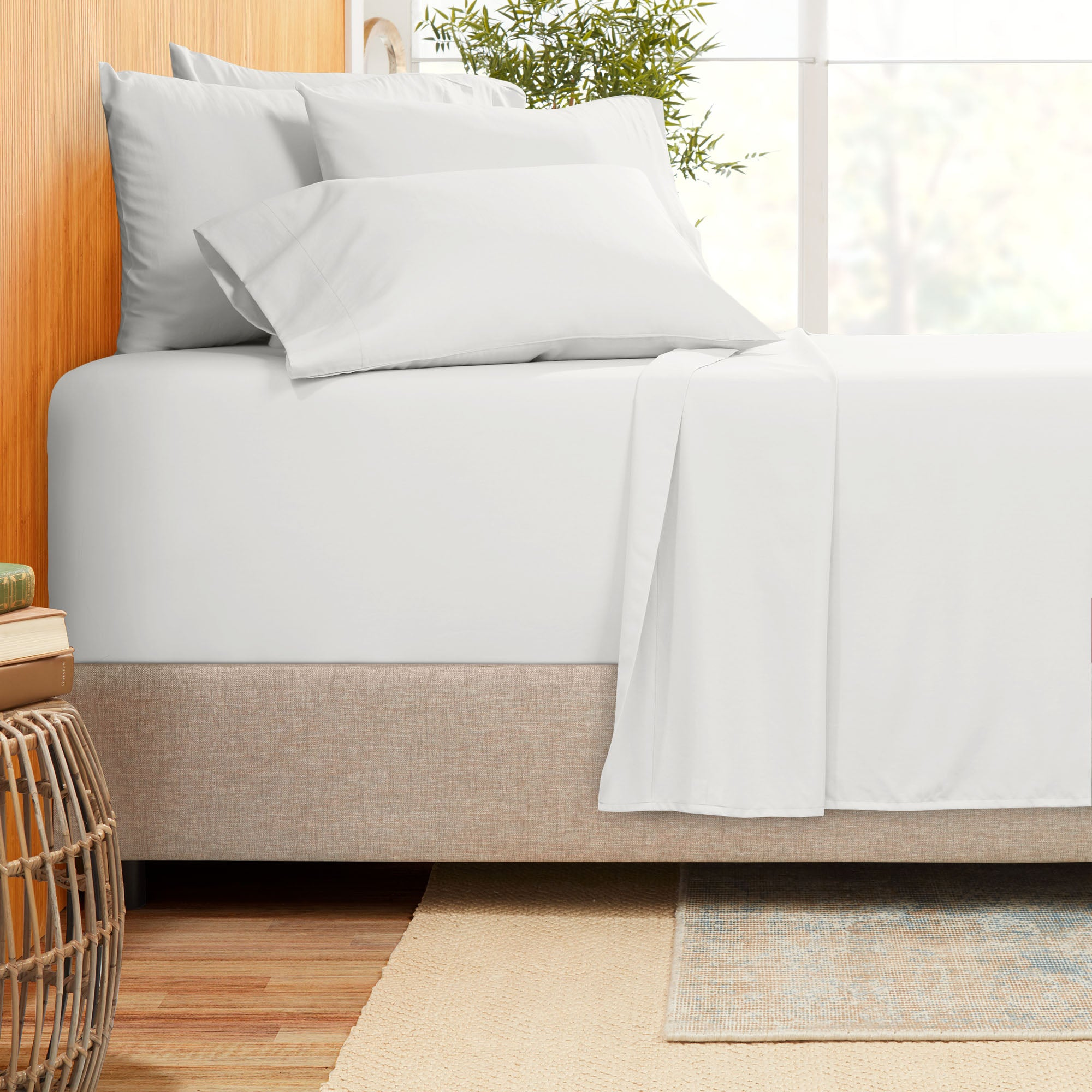"Bamboo Blend 6 Piece King Size Sheets - 18""-21"" King Size Sheets With Extra Deep Pockets - Soft Microfiber King Size Sheets Set - Fitted Extra Deep Pocket King Size Sheets"