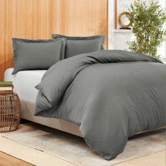 Empyrean Bedding Bamboo Blend 3-Piece Duvet Cover Set – Bamboo and Microfiber Blend – Hotel Luxury Soft Cool Comfy Duvet Cover – Easy Care Wrinkle Free No Ironing Necessary