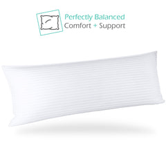 Nestl Bedding Body Bed Pillows for Sleeping | Down Alternative Sleep Pillows | 100% Cotton Pillow Covers with Poly Fiber Filling | Soft Pillow for Sleeping