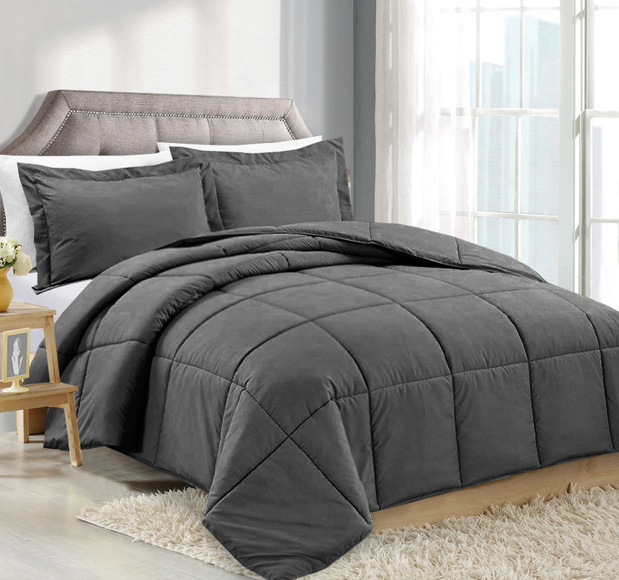 Clara Clark Alternative Goose Down Comforter Gray