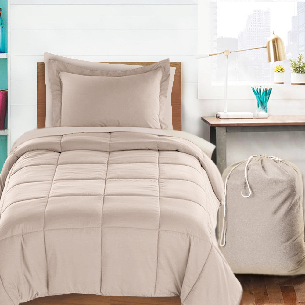 Clara Clark 6 Piece Bed In A Bag Bedding Comforter Set, Twin/X