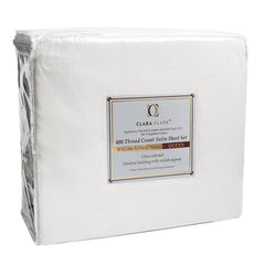 400 Thread Count 100% Egyptian Cotton 4 Piece Bed Sheet Set