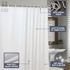 "Pure EVA Bathroom Shower Curtain Water Repellent with 12 Grommets 72"" X 72"""