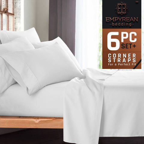 Empyrean Premium Deep Pocket 6-Piece Bed Sheet Set