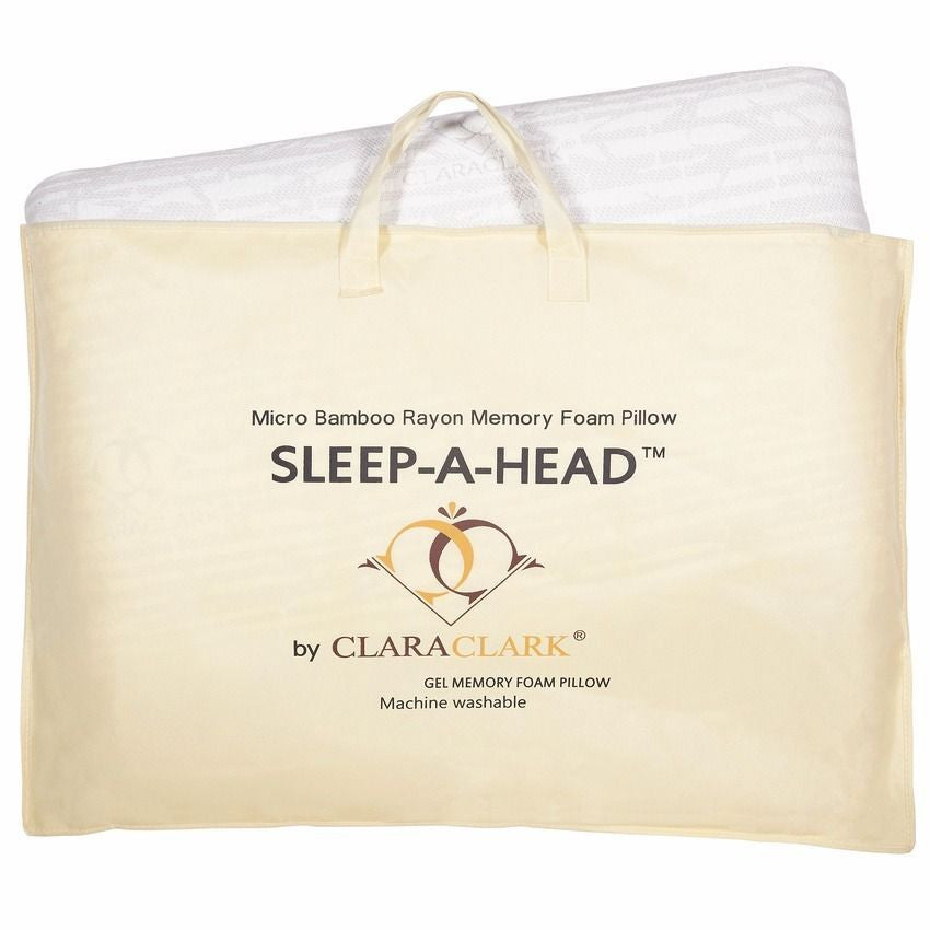 Cool Gel Top Memory Foam Magic Pillow With Removable Bamboo Cover And Carry Case
