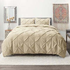 Nestl Bedding Pinch Pleat Microfiber Duvet Cover Sets