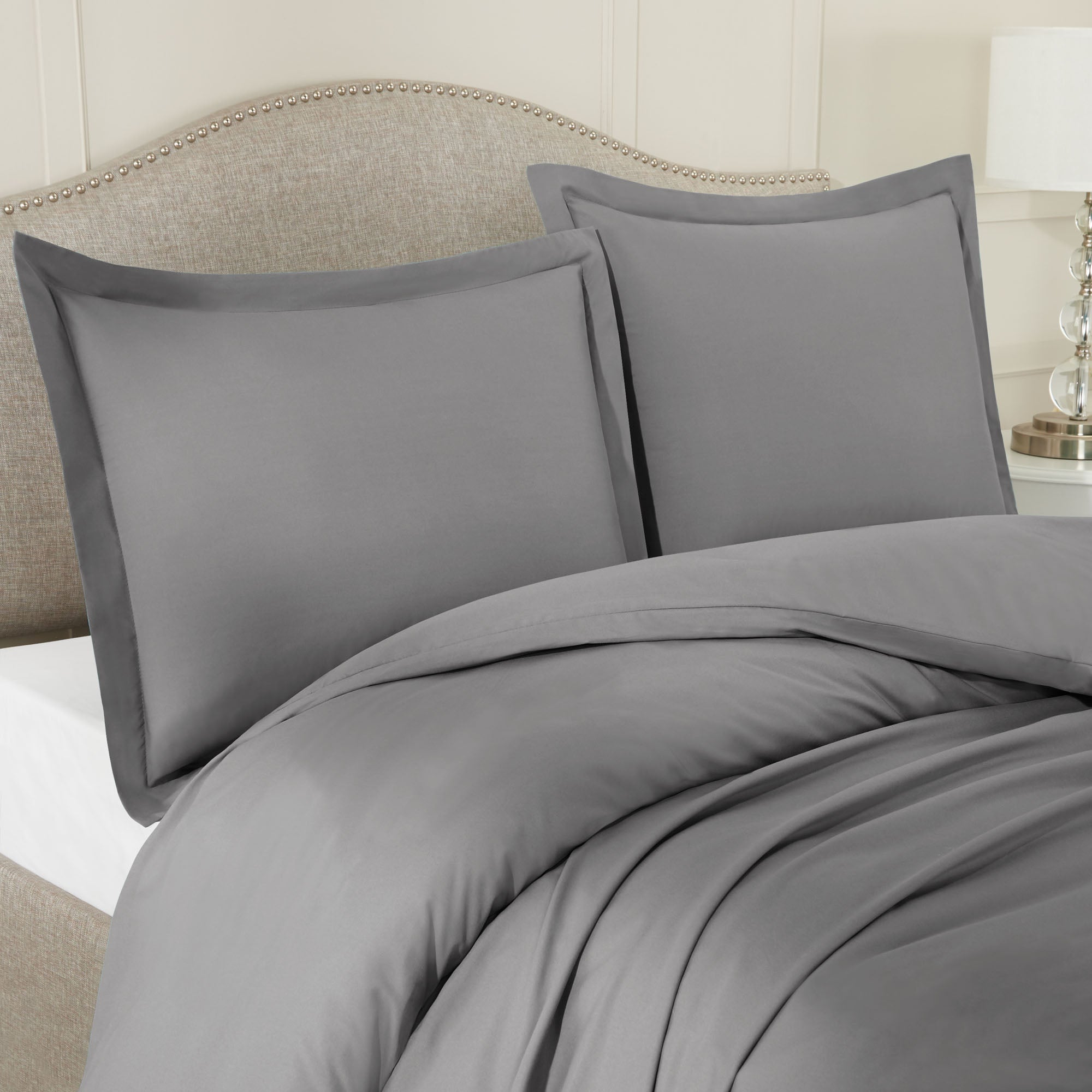 Nestl Bedding Microfiber Duvet Cover Sets (1 Duvet Cover, 2 Pillowshams)