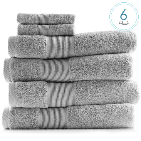 Hearth & Harbor 700 GSM Hand & Bath Towel Collection – 100% Cotton Luxury Set of 4 Bath Towels & 2 Wash Cloths – Ultra Soft & Highly Absorbent Beach, Spa & Bathroom Body Shower Towels