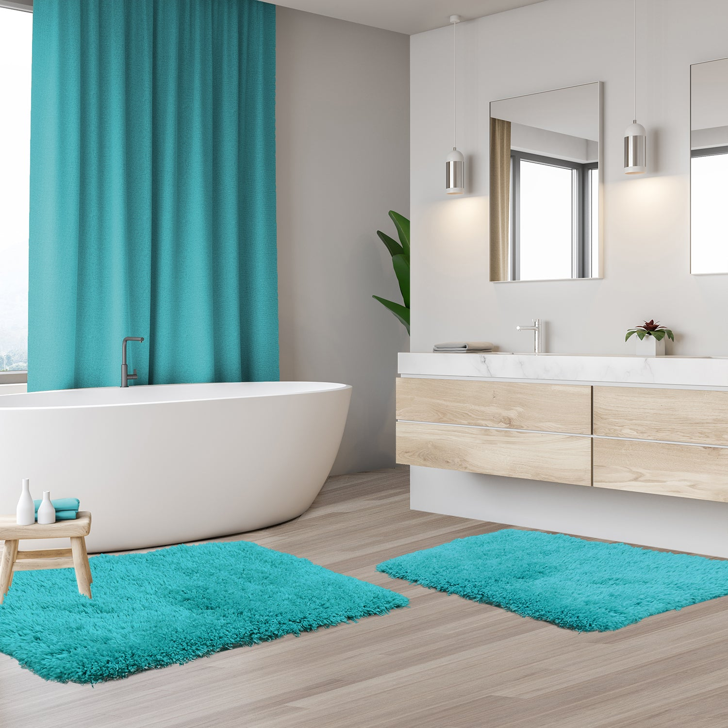 Clara Clark Non Slip Shaggy Bath Rugs - Small Medium, and Large Bath Rugs, Bath Mats In Various Colors and Sizes!