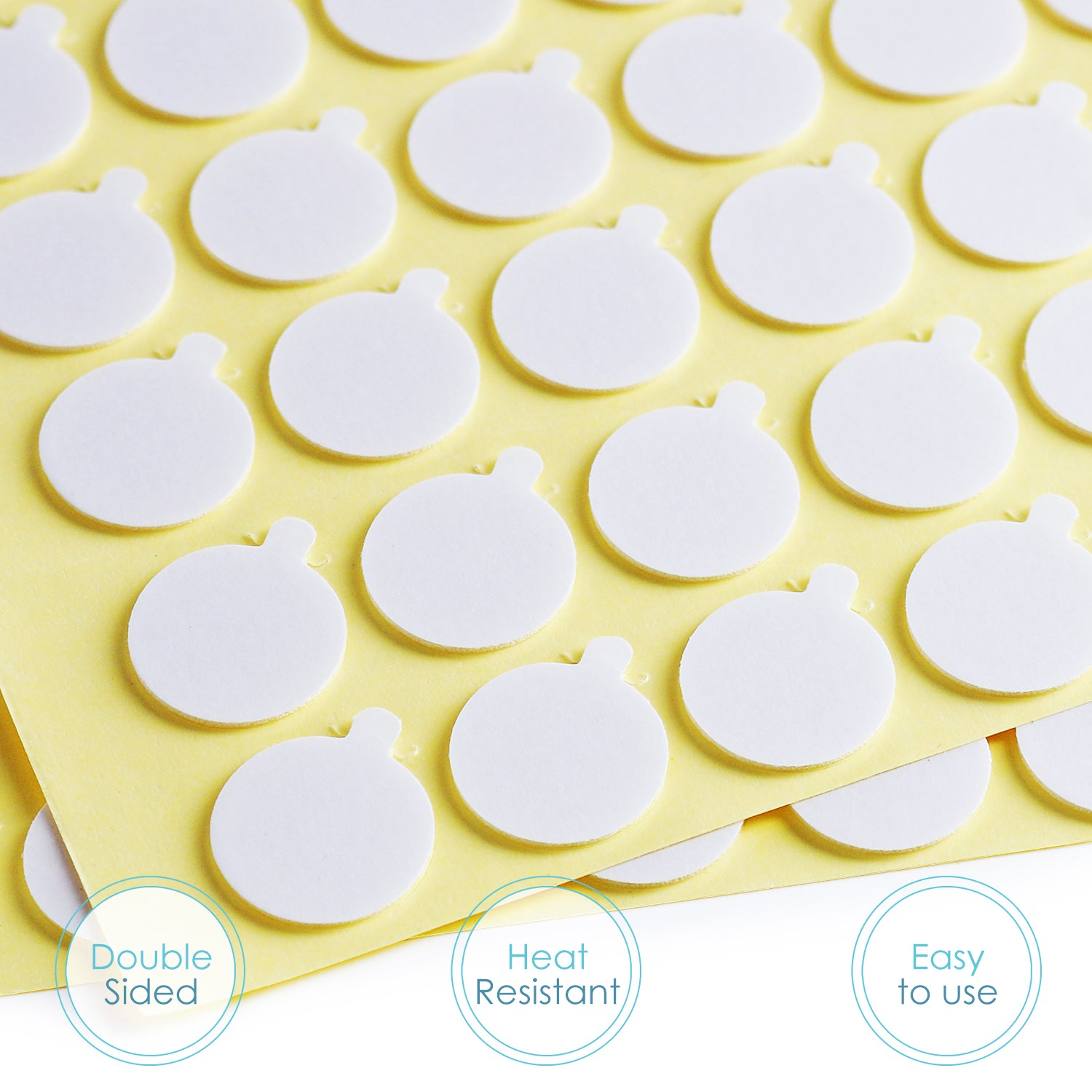 Hearth & Harbor Candle Wick Stickers – 500-Pack of Double-Sided Adhesive Wick Stickers for Candle Making – 20mm Diameter Round Heat-Resistant Adhere Stable – Candle Making Supplies for Easy DIY