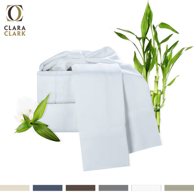 Clara Clark 100% Bamboo 4pc Deep Pocket Bed Sheet Set