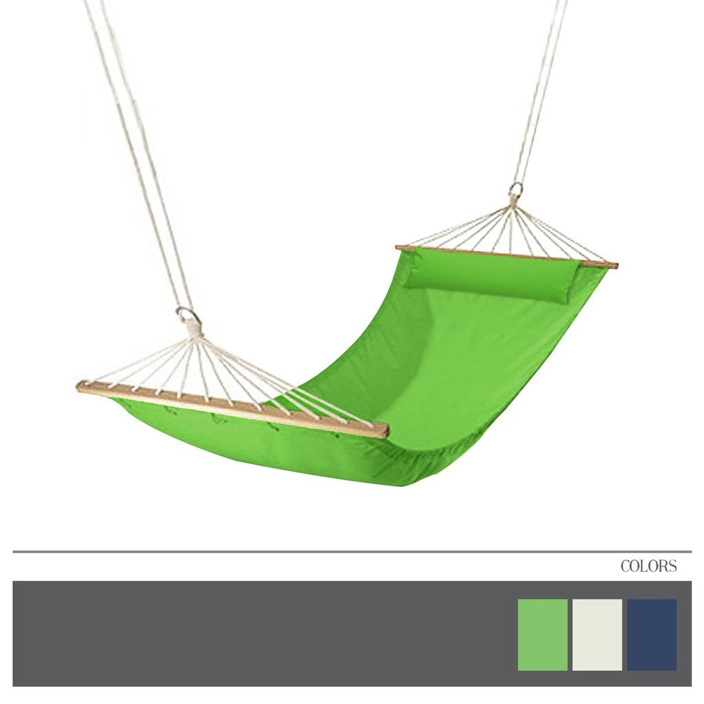 Heavy Duty Hammock - Quilted Fabric - Double Size Spreader Bar