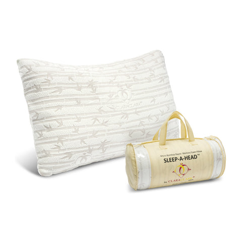 Clara Clark Shredded Memory Foam Pillow with a Luxury Designed Rayon Made from Satins Cover