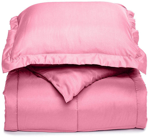 Clara Clark Down Alterntive Comforter Twin-X-Large Size, 66 In. X 92 In With Pillow Sham . Juvenile Color