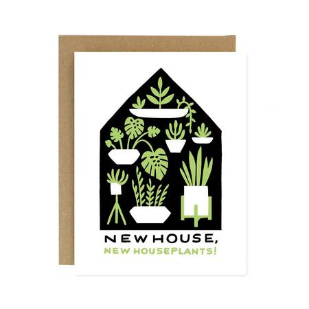 Houseplants Housewarming Card