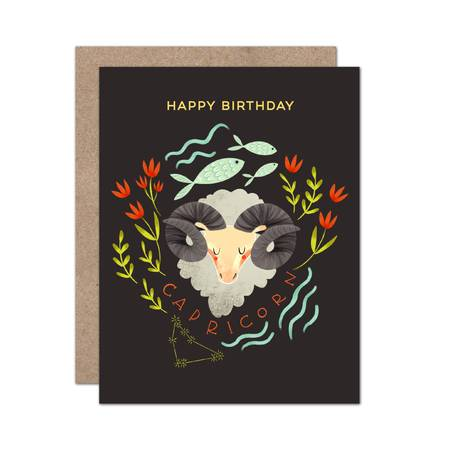 Zodiac Birthday Card / Capricorn