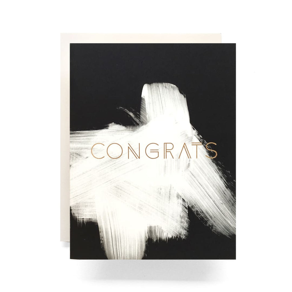 Congrats Brush Stroke Card
