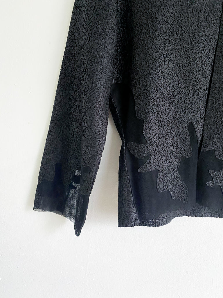 Joseph Rikkoff Black Textured Cardigan