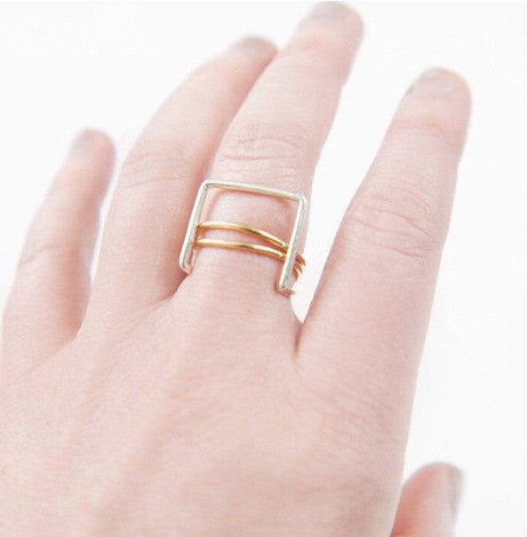 Smooth Gold-Fill Stacking Ring