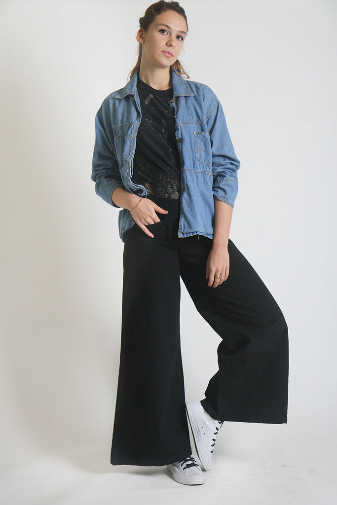 ON SALE // La Sandia Black Sailor Wide Leg Pant