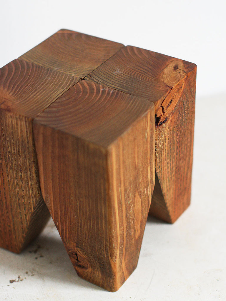 Heavy Wooden Plant Stool