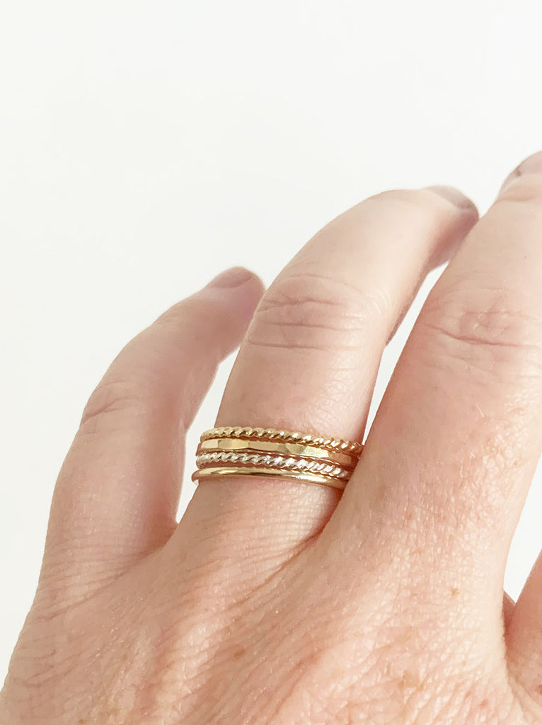 Twisted Gold-Fill Stacking Ring