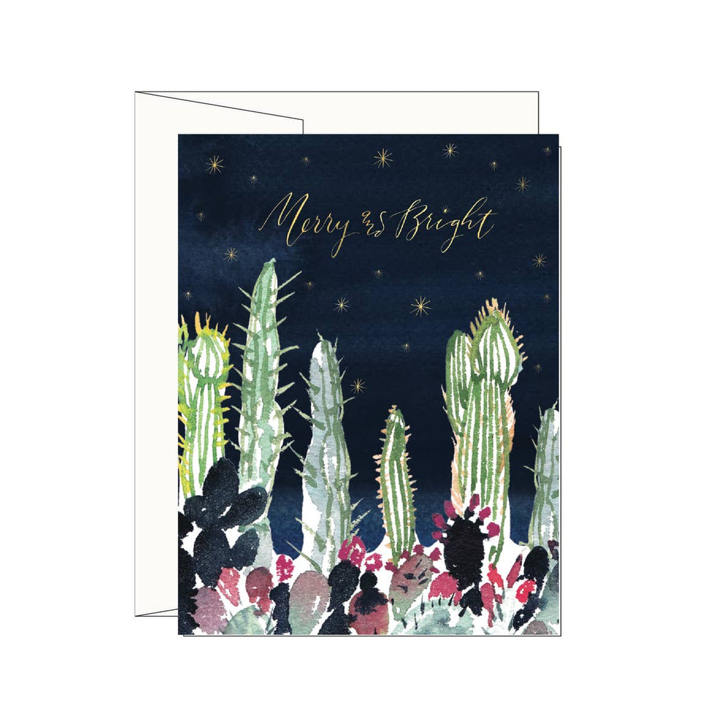 Merry & Bright Cactus Garden Card