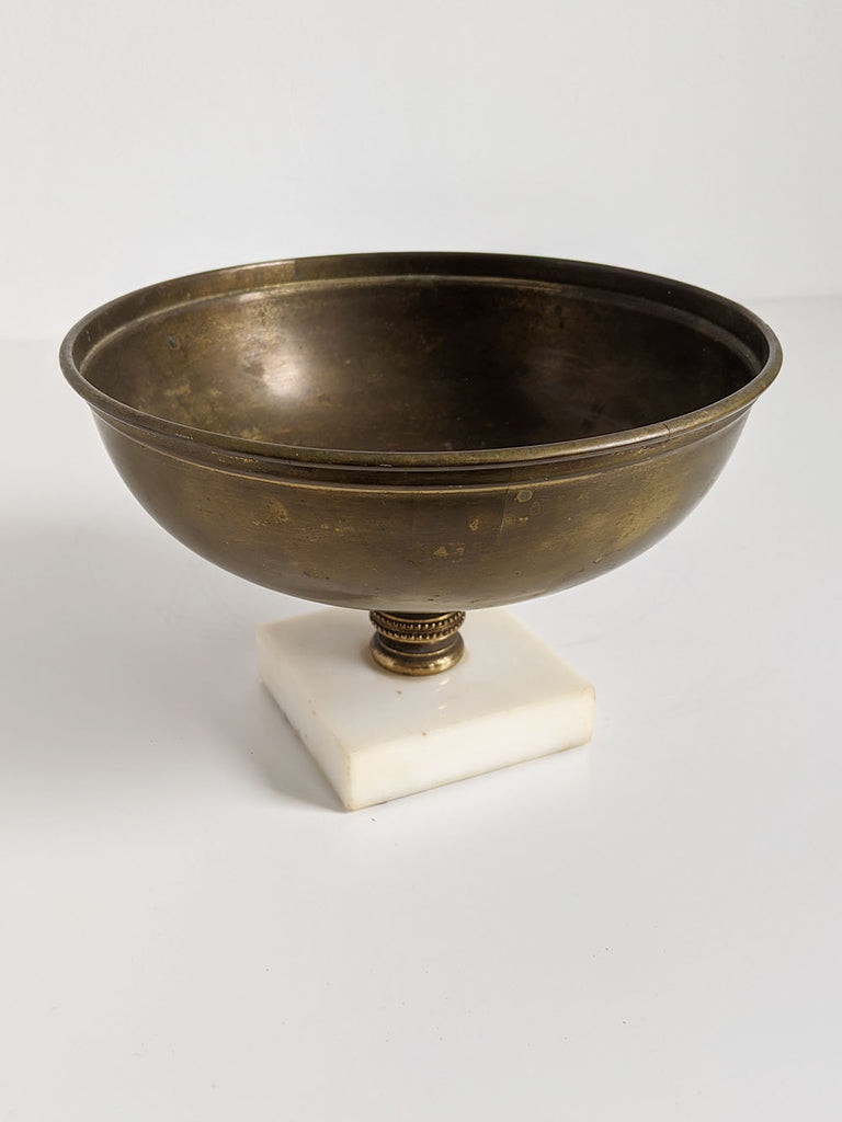 Marble Base Brass Bowl