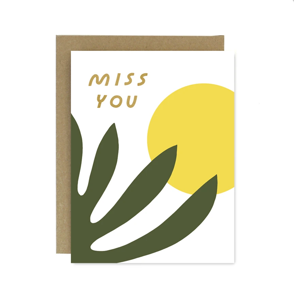 Miss You Shapes & Colors Card